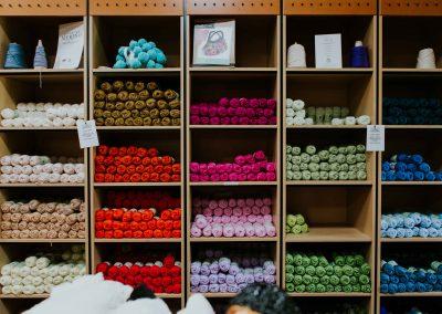 Nundle-made woollen yarn at Nundle Woollen Mill.